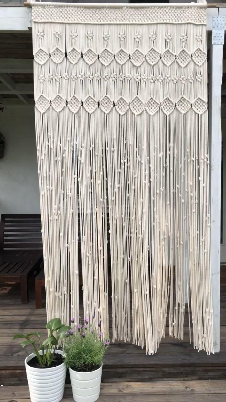 Photo of Macrame curtain, boho wedding Macrame, macrame curtain