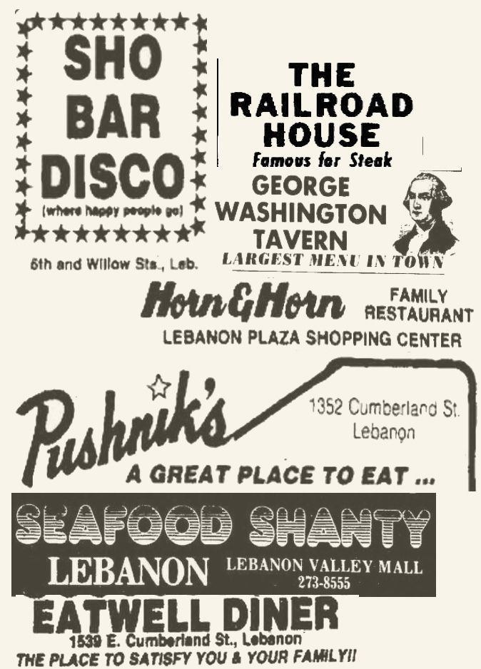Signs you may have grown up in Lebanon County during the halcyon years of the 1970s and 1980s.