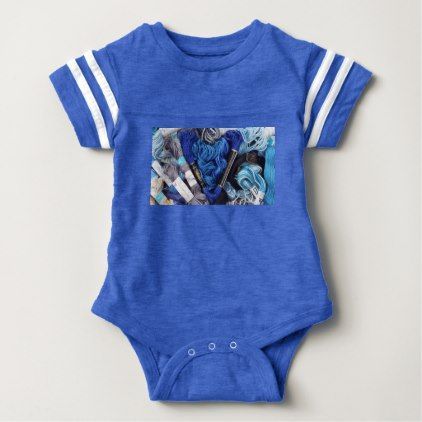Cute photograph of colourful blue embroidery heart baby bodysuit cute photograph of colourful blue embroidery heart baby bodysuit photographer gifts business diy cyo personalize negle Choice Image