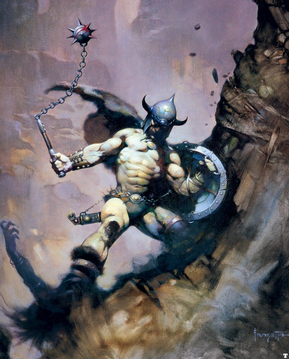 Image result for frazetta barbarian undead