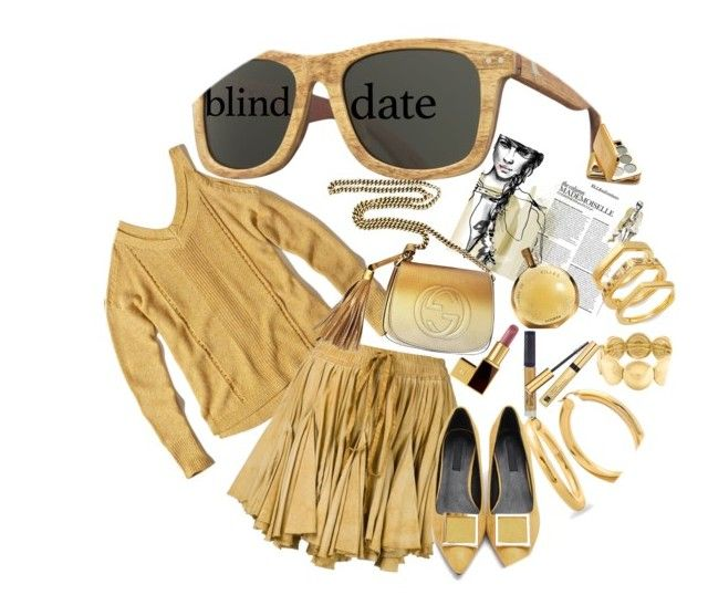 """Blind Date"" by marionmeyer on Polyvore featuring Mode, Hollister Co., Vivienne Westwood Gold Label, Liz Claiborne, Tom Ford, Winky Lux, Estée Lauder, Hermès, Gucci und Elizabeth and James"