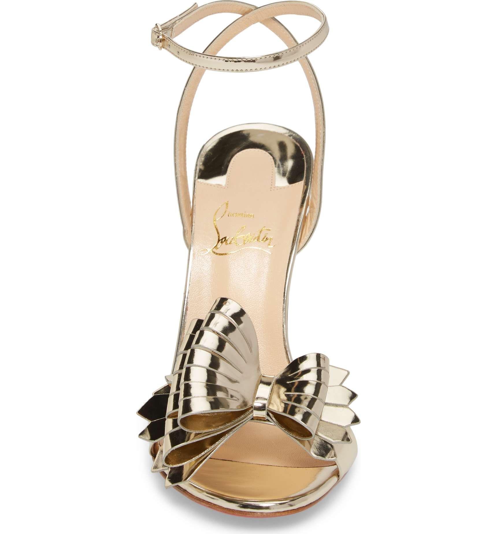 on sale 438f1 4185a Main Image - Christian Louboutin Miss Valois Bow Sandal ...