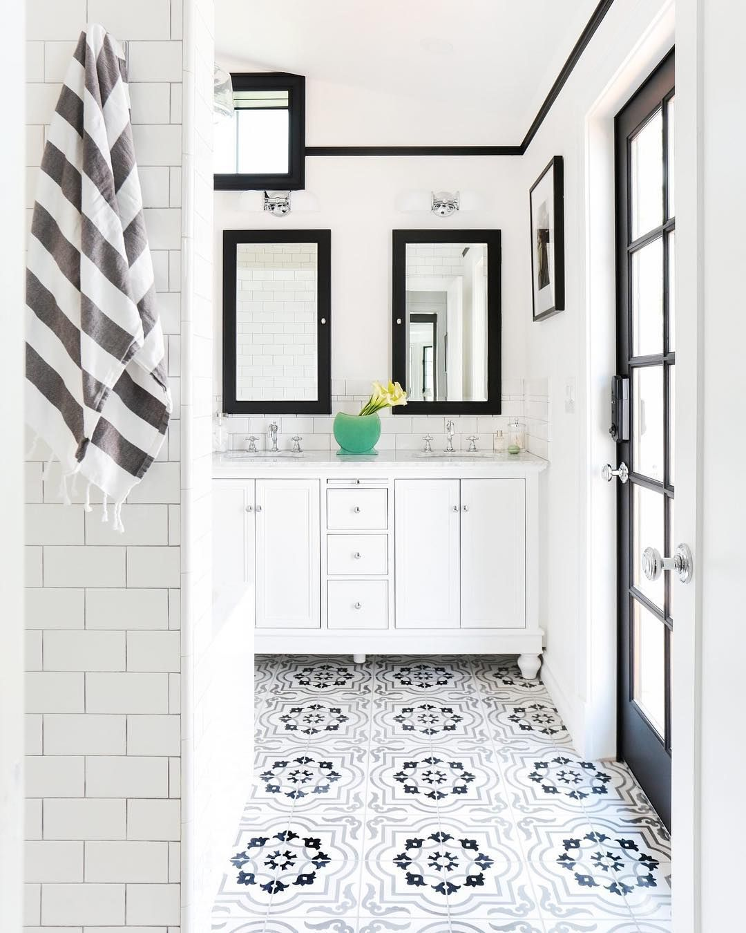 Homepolish On Instagram What S Your Tile Style Just When We Thought We D Pinpointed Ours This Patt Beautiful Bathrooms Bathroom Design Bathroom Inspiration