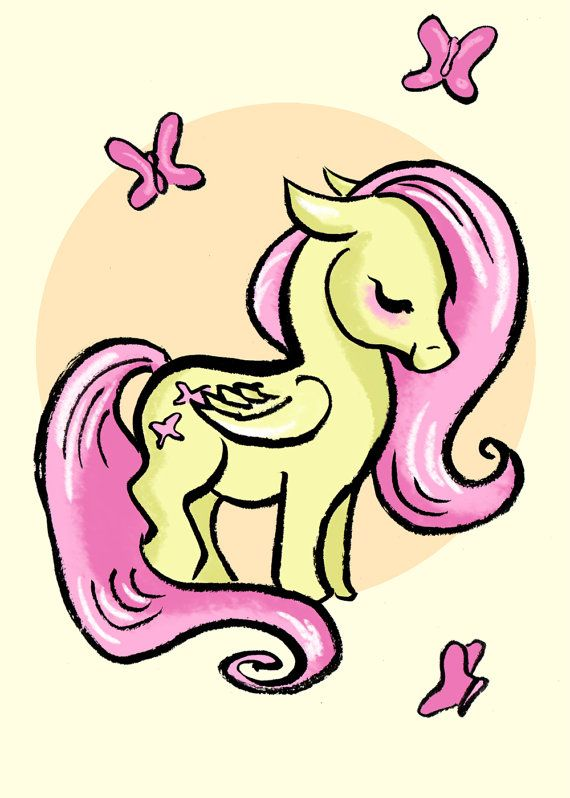 2016/10/14 Pegasus - Fluttershy My Little Pony Friendship is Magic Art by daisychurch, $5.00