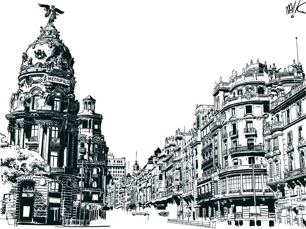 Gran Vía de Madrid por mA!k