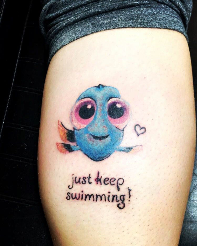 Finally Got My Baby Dory Tattoo That Represents My