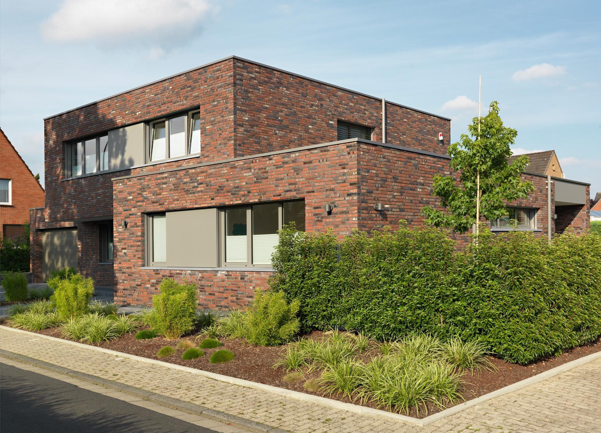 Ziegelhaus design außen bauhaus wegberg  gillrath klinker  fassade fenster tür in