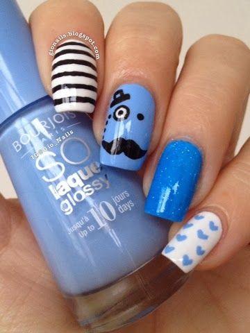 GioNails: Blue For November #3: Adora-Bleu - Bourjois + Pedra Estrela - Ellen Gold                                                                                                                                                                                 Mais