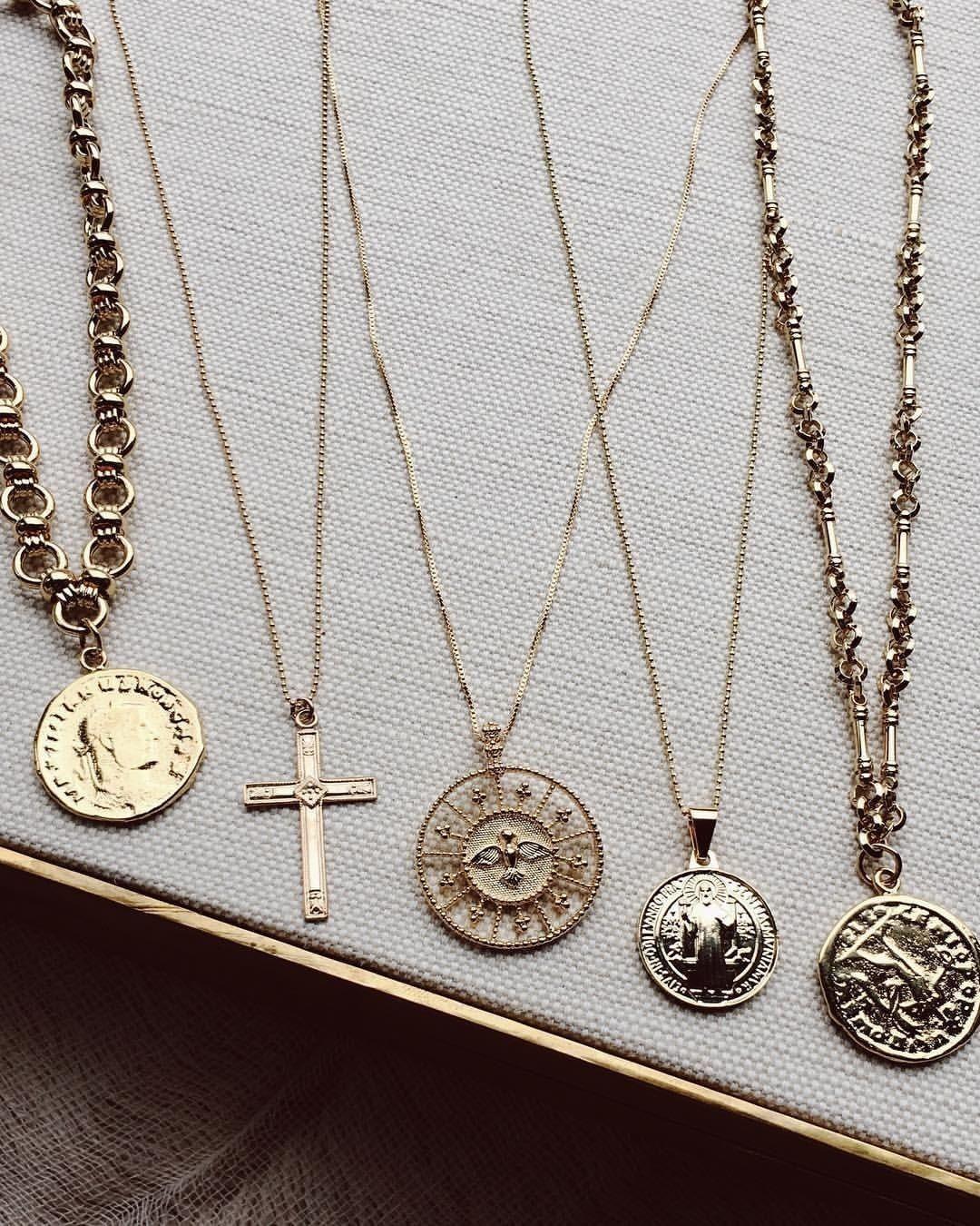 Coin pendant necklaces