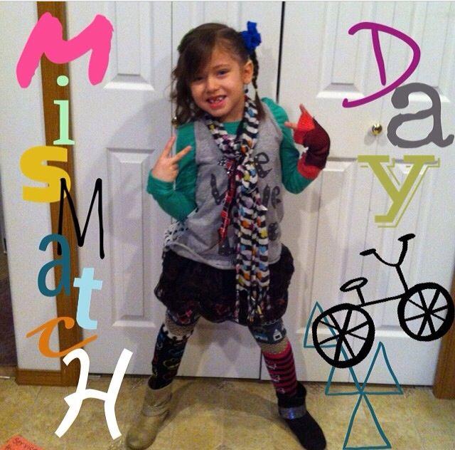 Mismatch Day   School dress up days   Pinterest   School