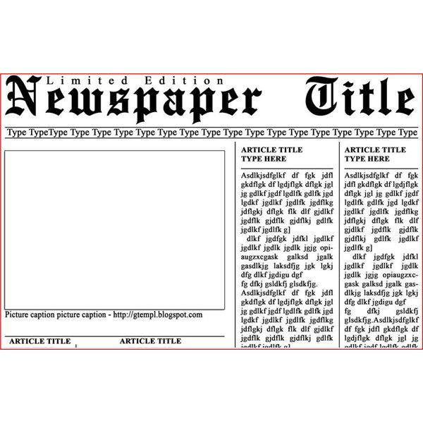 create your own newspaper template - 100 images - editable ...