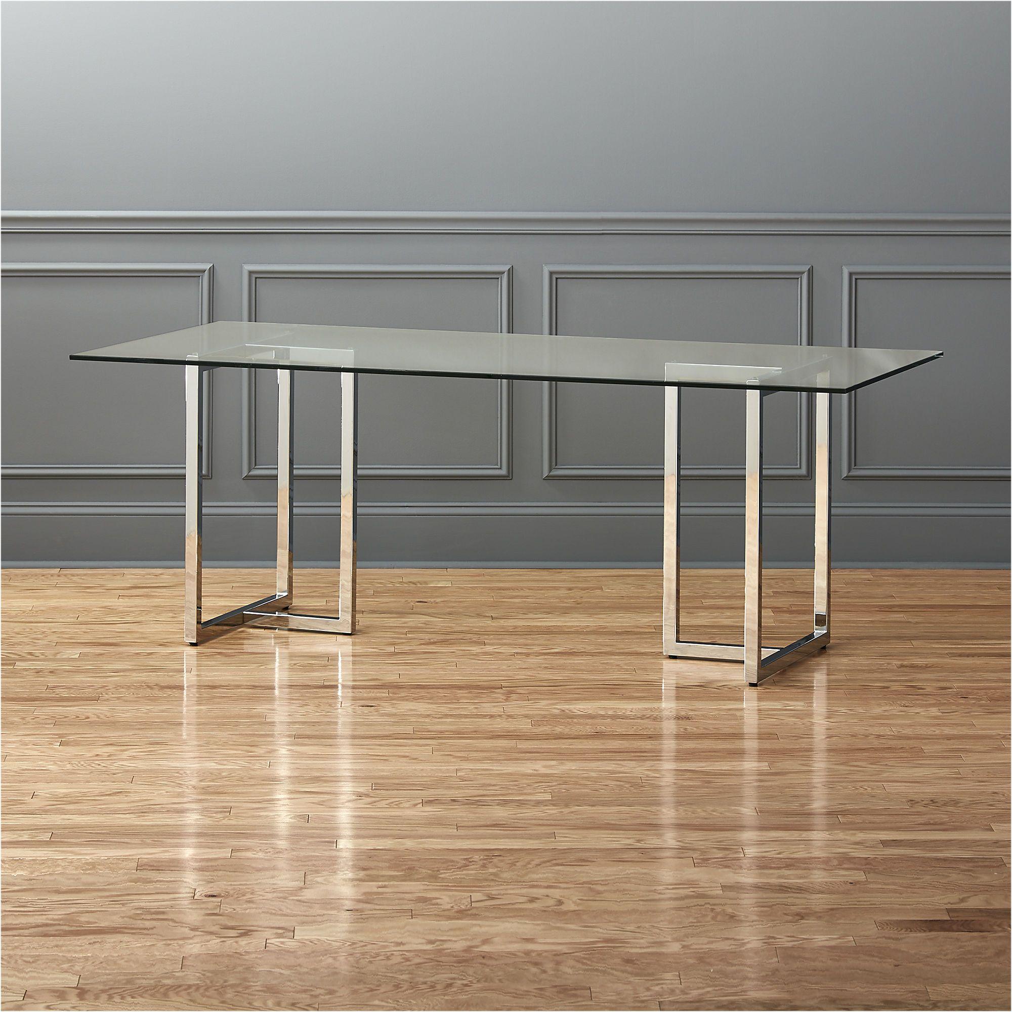 Cb2 Modern Silverado Round Glass Dining Table Stol