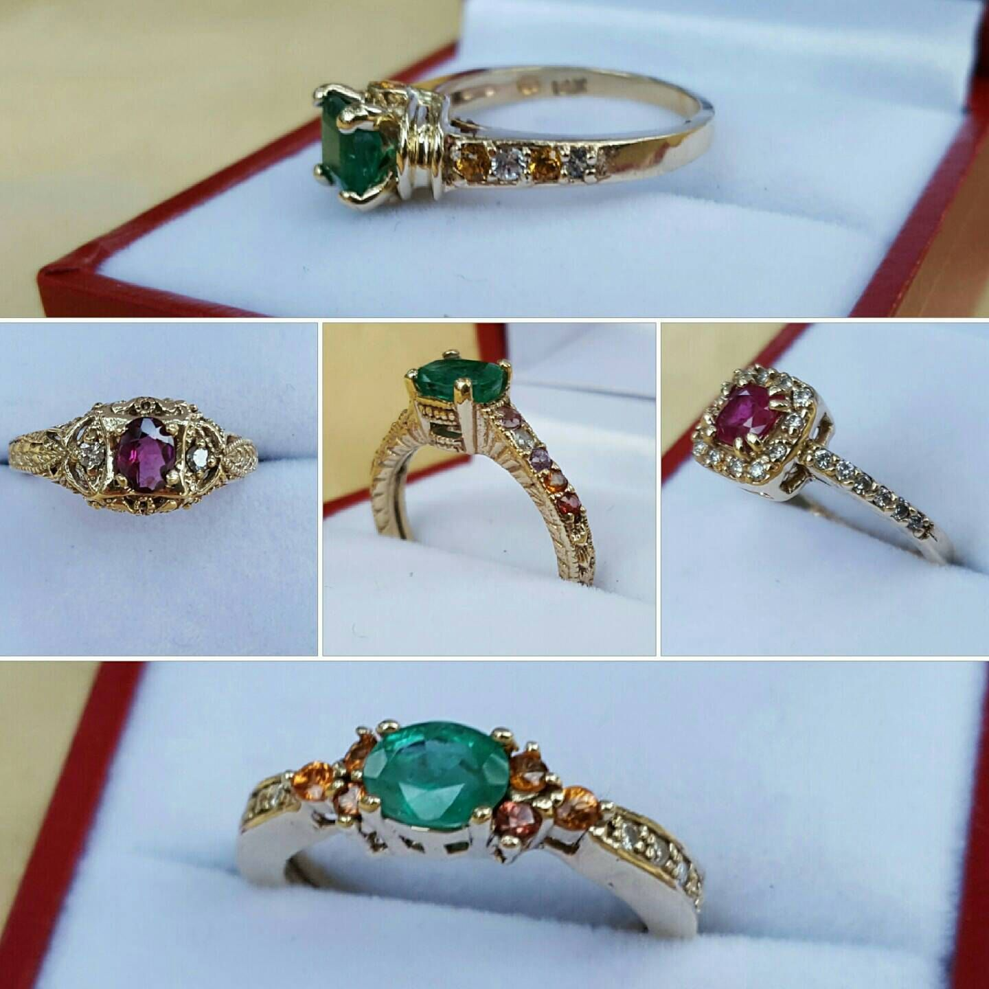 and on with each ring in set kt more emerald ruby pin renaissance diamonds rings white accented explore side