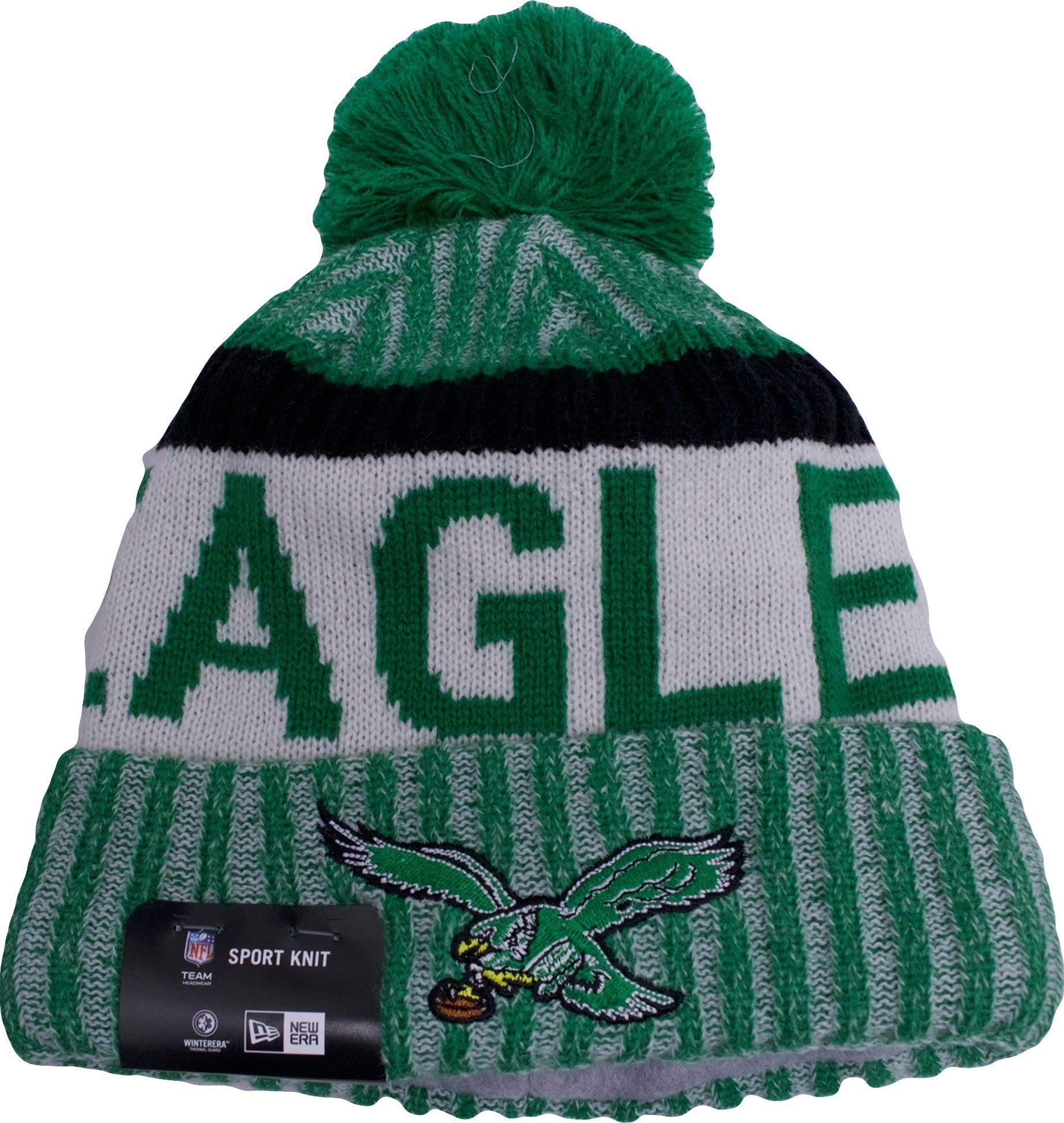 d5150fe4e3 2017 NFL Sideline Philadelphia Eagles Vintage Green Sport Knit Cuff Beanie