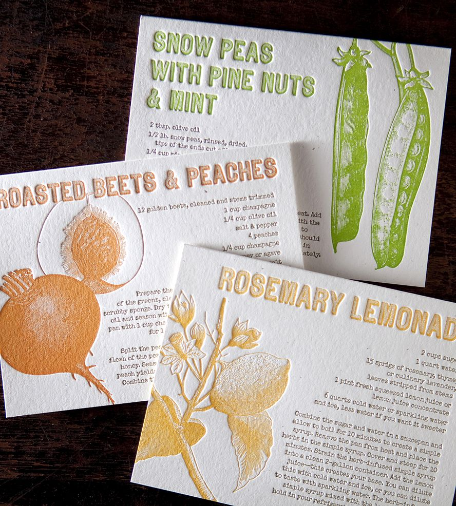 Farmers Market Recipes Greeting Card Set Pack Of 6 Bison