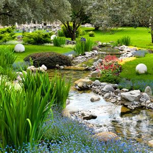 17 best images about teich on pinterest | backyards, garden, Garten Ideen