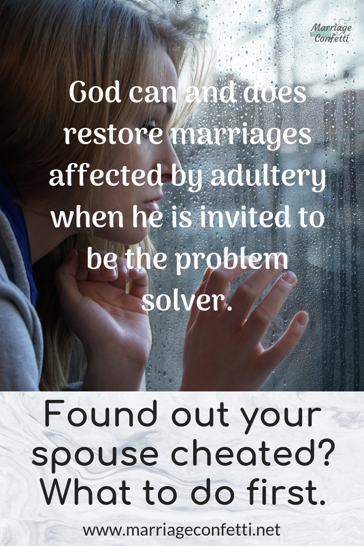 Found out your spouse cheated? What to do first | Marriage