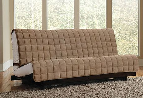 Sure Fit Slipcovers Deluxe Armless Furniture Cover Sofa