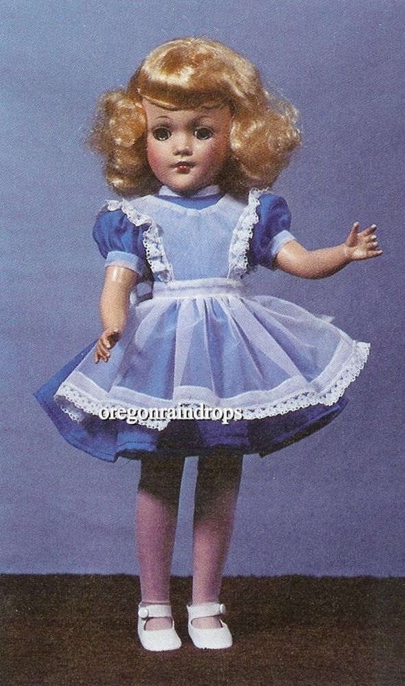"Vintage 1940s Alice in Wonderland Cloth Stuffed Doll Toy Pattern 20/"" tall"
