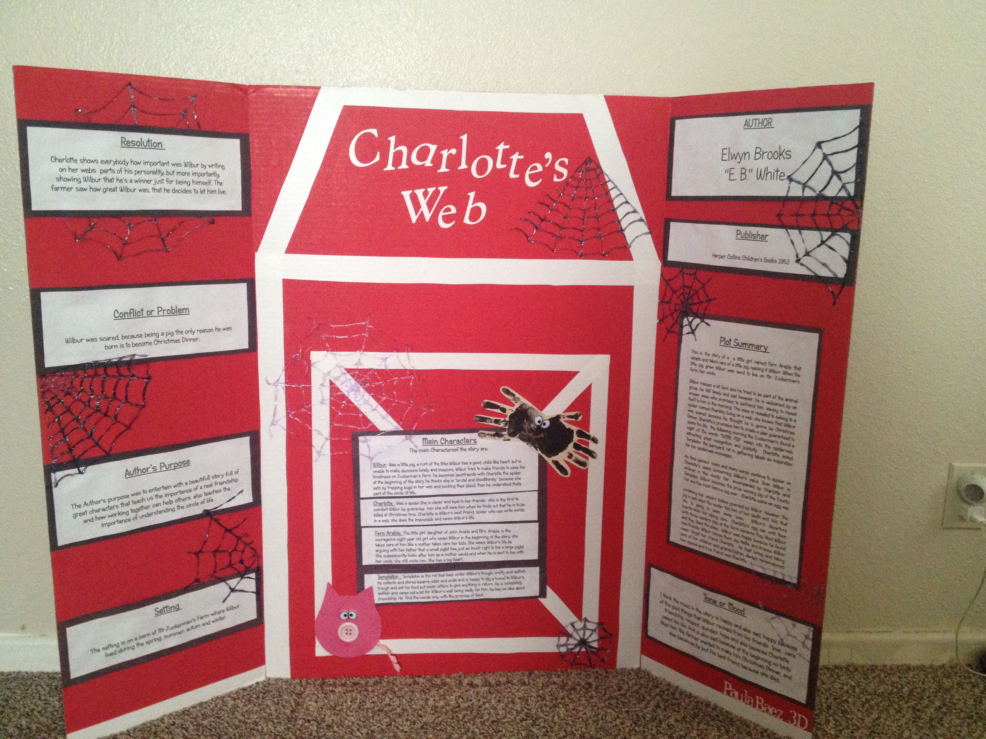 what did charlotte write in her web