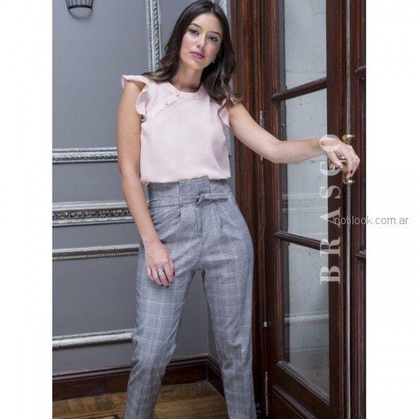 Pantalon De Vestir Tiro Alto Mujer Cuadrille Brasco Otono Invierno 2018 Pantalones De Vestir Mujer Pantalones De Vestir Pantalones De Moda