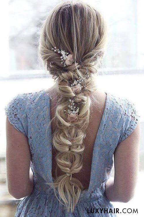27 wunderschöne Hochzeit Braid Frisuren für Ihren großen Tag - Neue Damen Frisuren #loosebraids