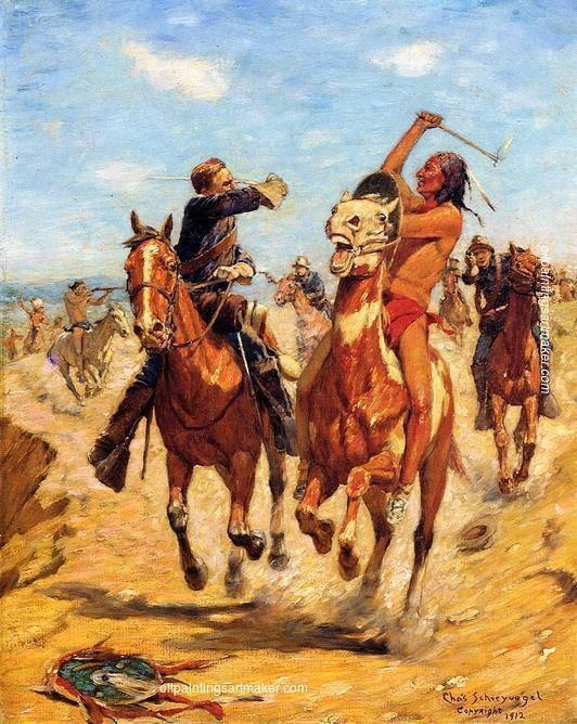 Doomed  by Charles Schreyvogel    Giclee Canvas Print Repro