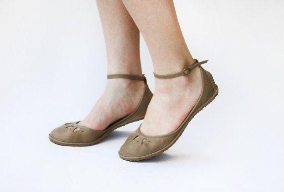 Flat shoes Kali Handmade Leather ballet door TheDrifterLeather