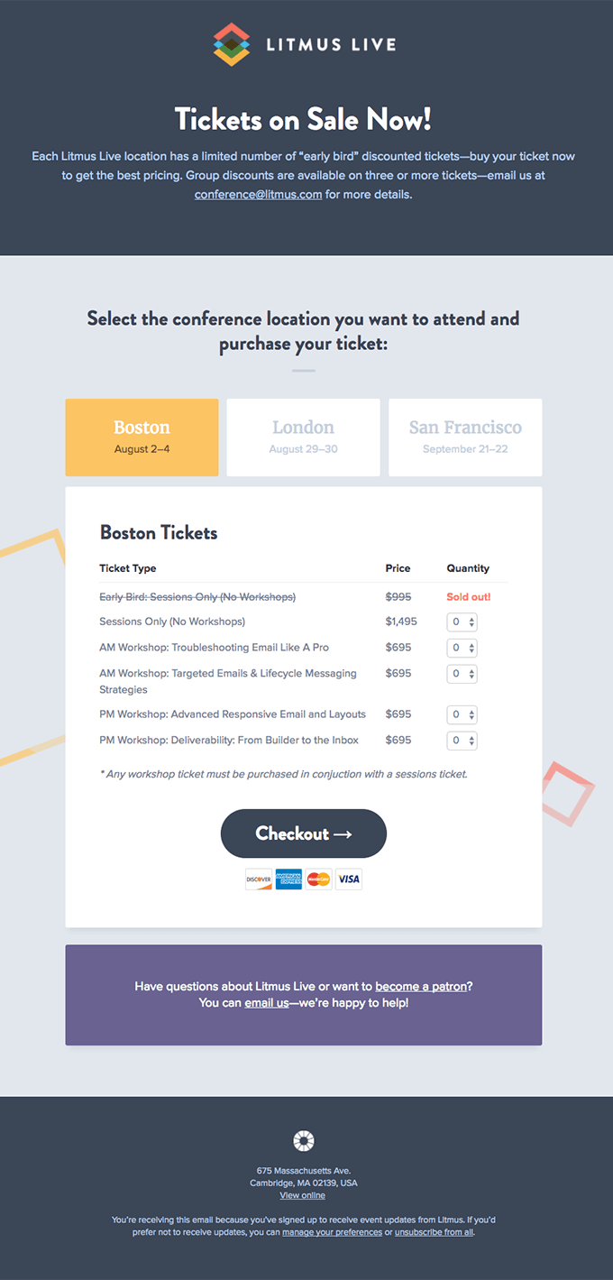 Litmus Live 2017 Tickets On Sale Now Really Good Emails