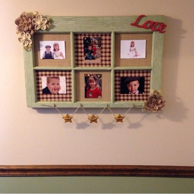 I am so having my husband make a frame like this so I can make this!