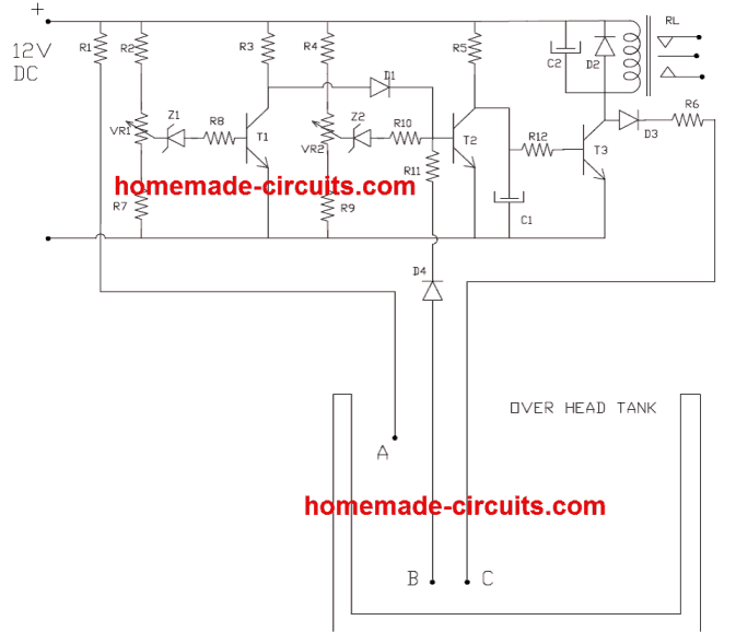 5 Simple Water Level Controller Circuits In 2020 Circuit Levels Water