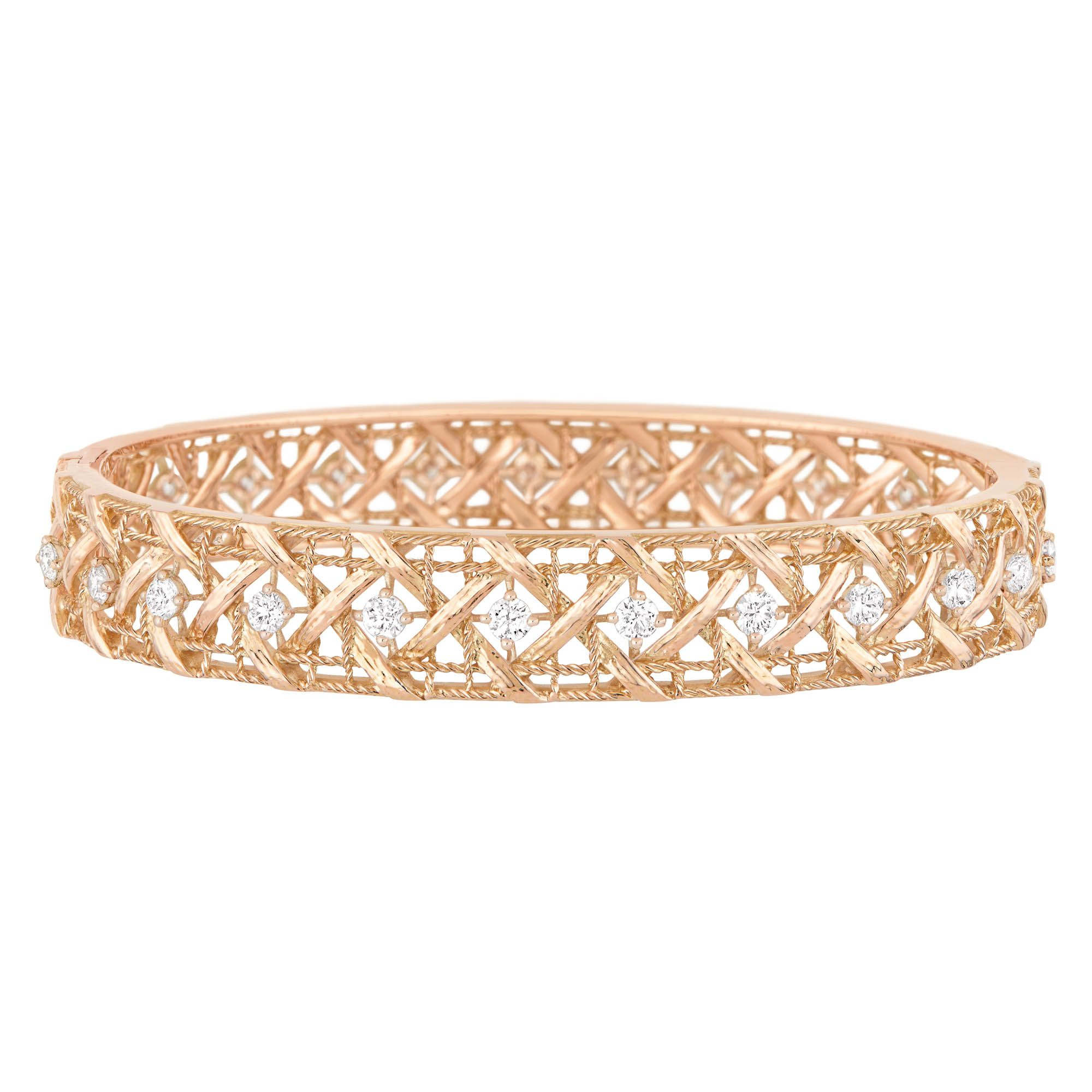 My dior bracelet in k pink gold and diamonds discover more on