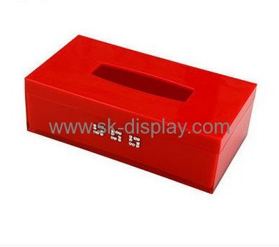 Hot Selling Acrylic Facial Tissue Box Plexiglass Storage Box Plastic Storage  Box DBS 125