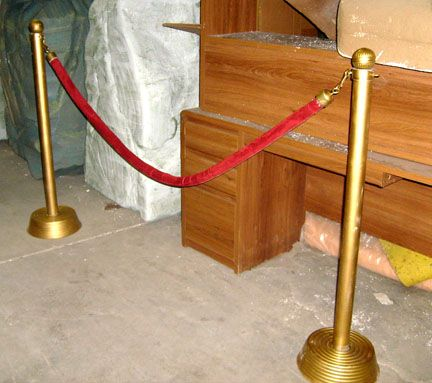 Diy Hollywood Theme Red Ropes Rope And Stanchions