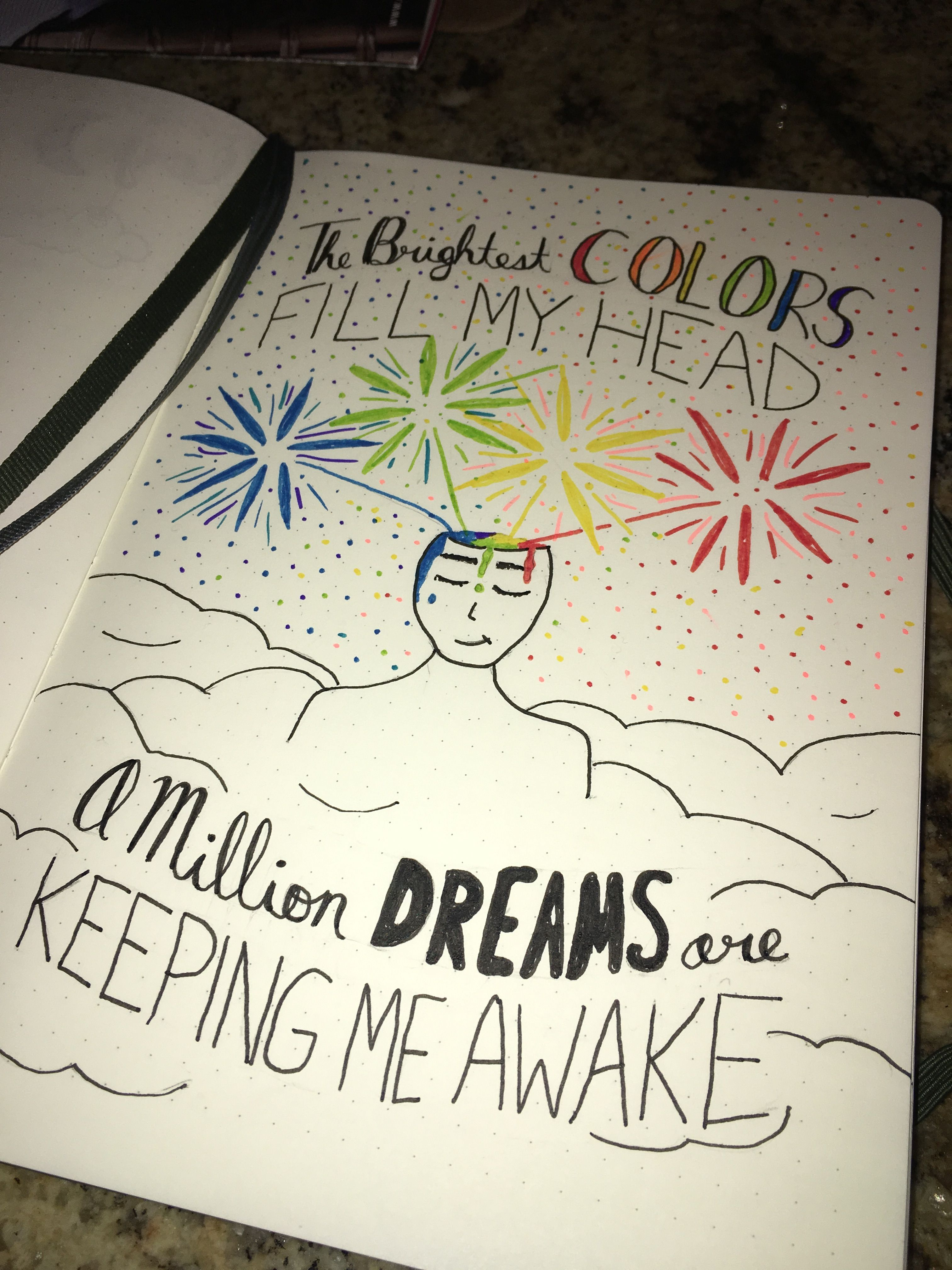 A Million Dreams From The Greatest Showman Lyric Tribute Drawing Bullet Journal Art Wreck This Journal Lyric Drawings [ 4032 x 3024 Pixel ]