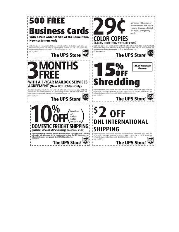 Ups Business Card Angebot Plus 12 Bis Business Card Cutter