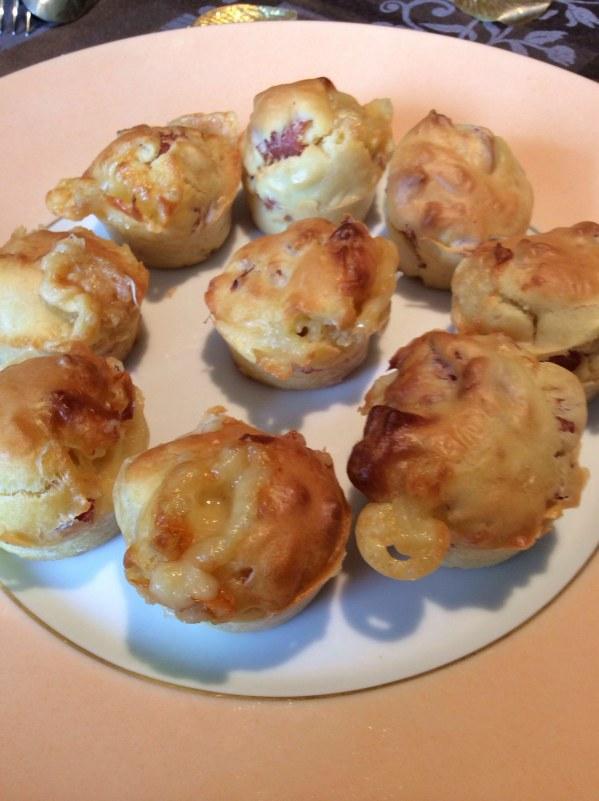 Muffins salés comté et bacon pour l'apéritif