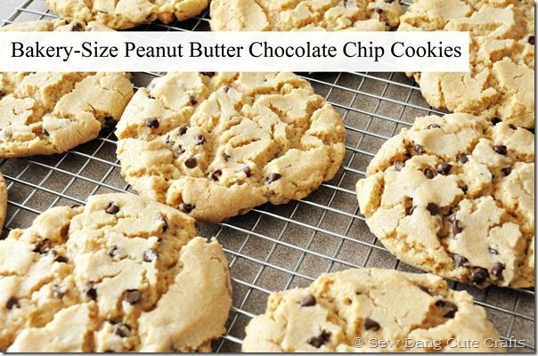 Gourmet bakery-size peanut butter chocolate chip cookies!