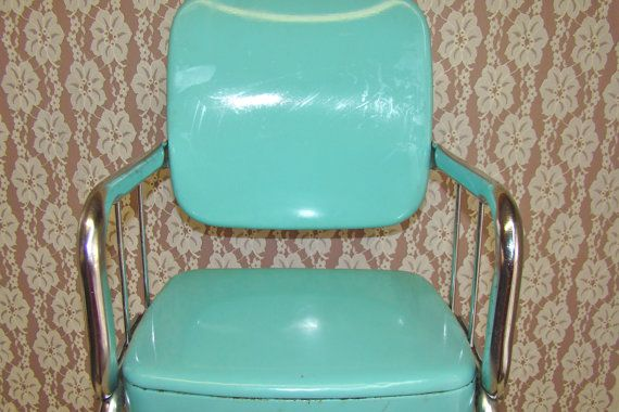 Vintage Turquoise/Teal Cosco Child's Chair. Youth Chair ...