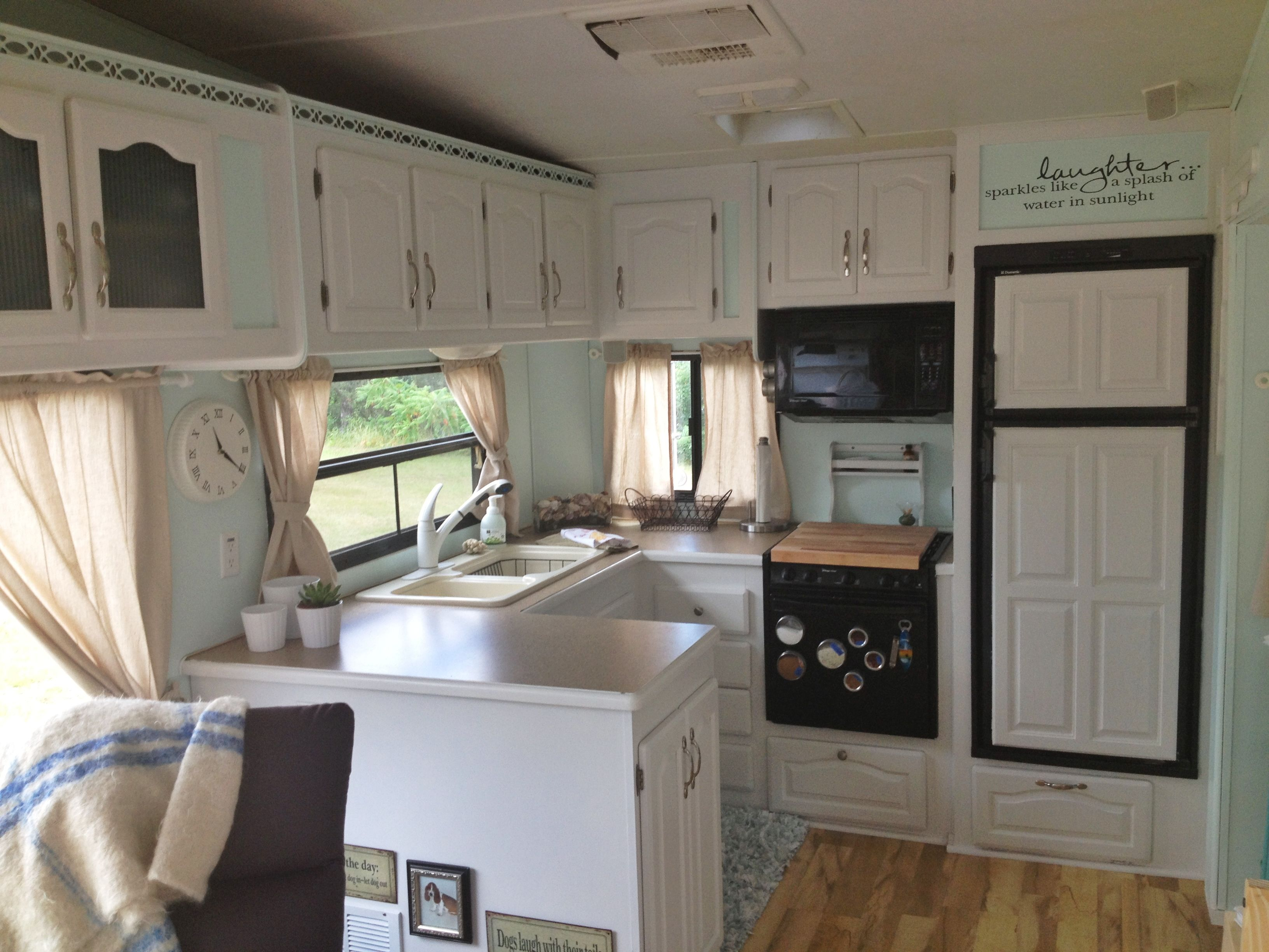 Camper Interior Remodel DIY Travel Trailers   Just About All Travel Trailers  Utilize Wood Veneer. This Will Go Quite A Way To Giving Your Family Campe.