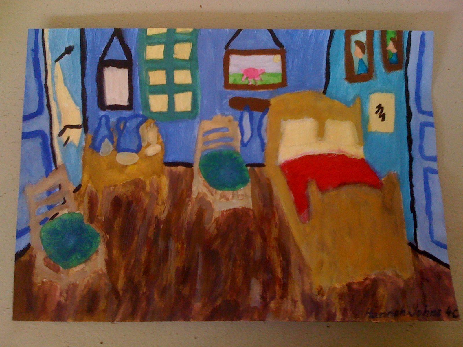 Van Gogh's Bedroom Year 4 class (With images) Art, Van