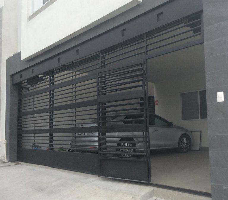 Tipos de portones para complementar su fachada ideas - Puertas automaticas para cocheras ...