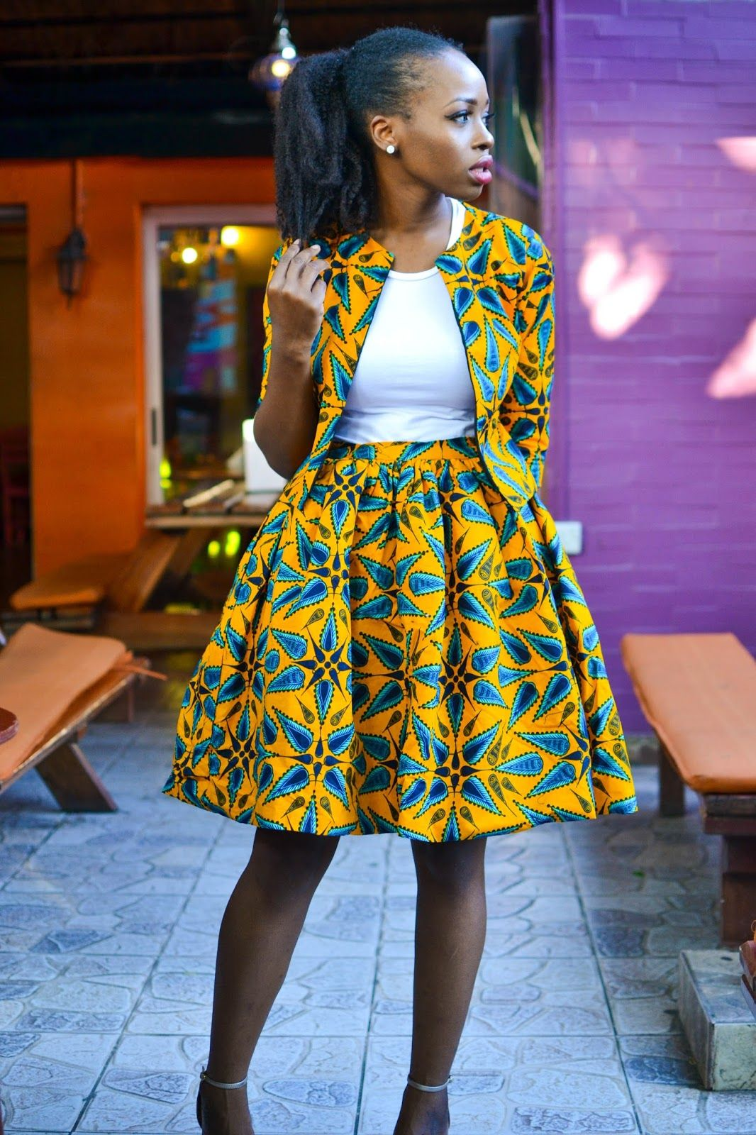 Ankara skirt and blazer coord outfit  d107362ec9f2