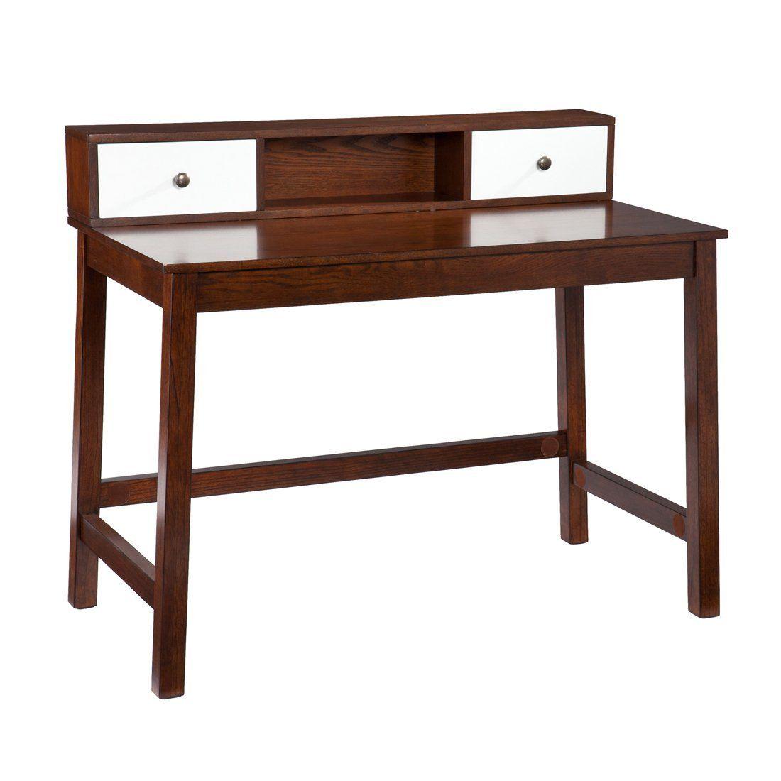FurnitureMaxx.com Contemporary Espresso Writing Laptop Desk With Hutch : Office  Desks