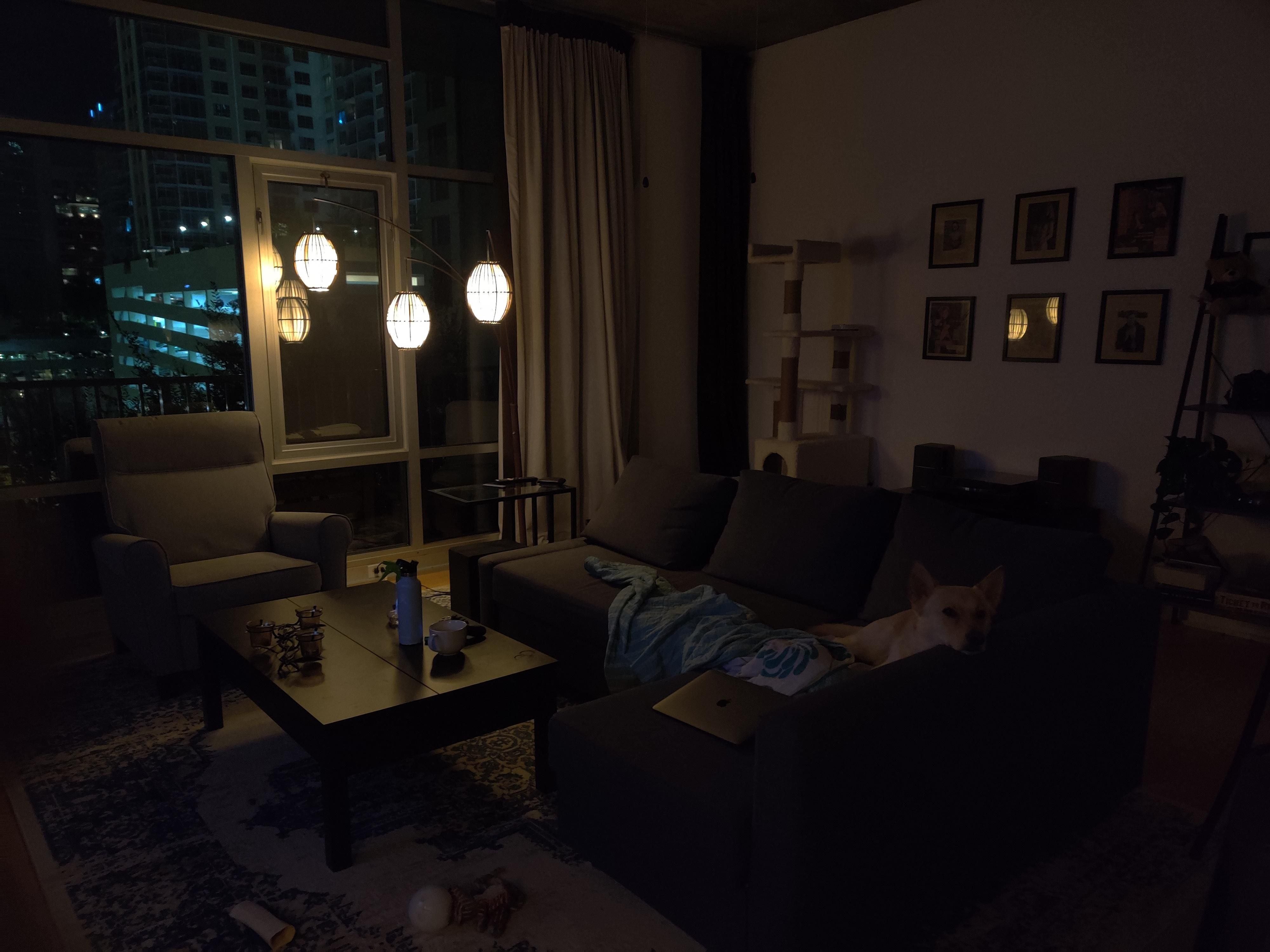 My Living Room At Night Small Modern Cabin Tiny Living Rooms Home Decor