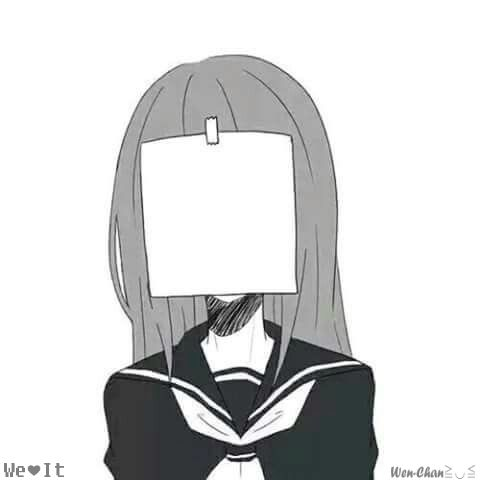 Pin em B&W •Anime• Sad Girl