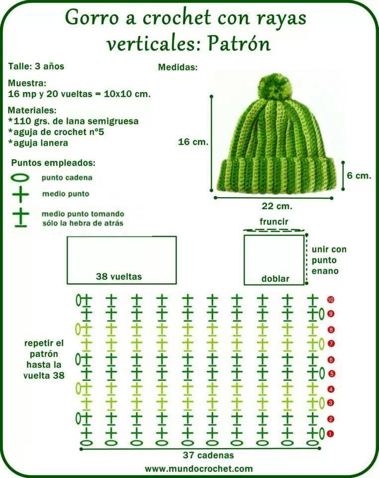 Gorro simple | Gorros, bufandas, etc | Pinterest | Gorros