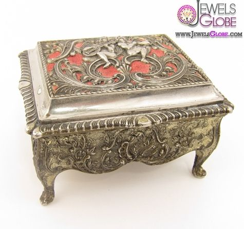 silver jewelry box silver plated jewelry box velvet lined interior