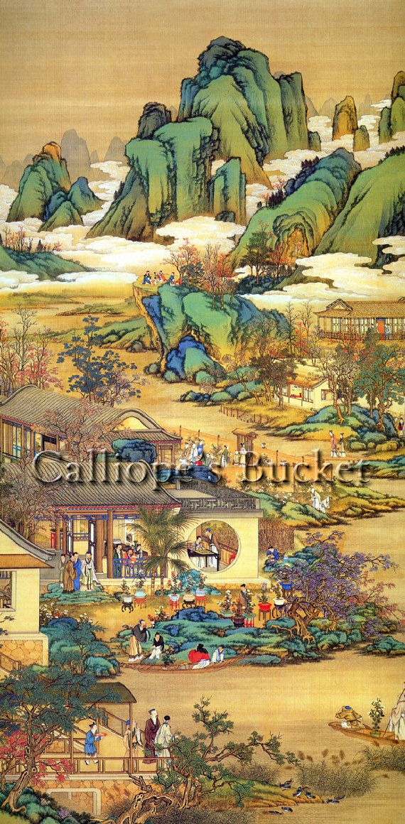 Scenes Along A River Ink On Silk All Artworks Are Sold Without