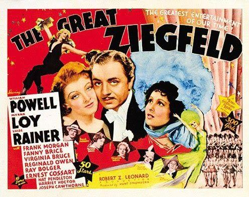 The Great Ziegfield Myrna Loy vintage movie poster